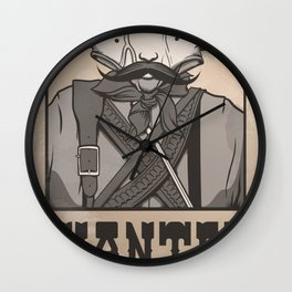 WANTED: SENOR UNDERPANTS Wall Clock