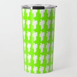 Billie Neon Green Travel Mug