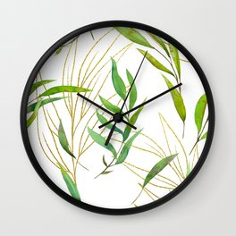 spring leaves  Wall Clock