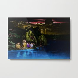 The Waters of Babylon sunset landscape painting  Metal Print