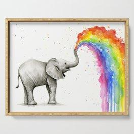 Rainbow Baby Elephant Serving Tray