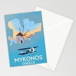 Mykonos Greece Stationery Cards