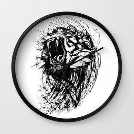 Fierce Roaring Bengal Tiger Artistic Gift Wall Clock