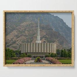 Provo Utah Mormon Temple Latter Day Saints Church Serving Tray
