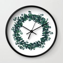 Plant Garland Wall Clock