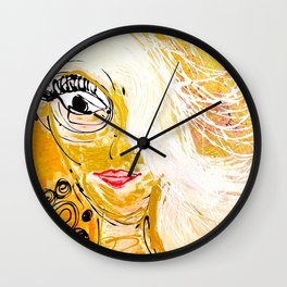 The Warmth of Gold Wall Clock