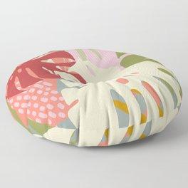 Monstera Party #tropicalvibes Floor Pillow