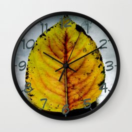 The Falling of the Leaves Wall Clock