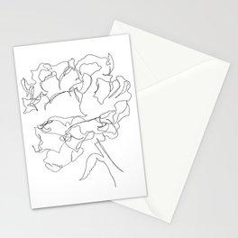 Peony Line Art Stationery Cards