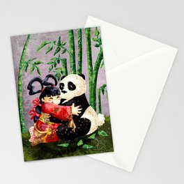 the princess and the panda Stationery Cards