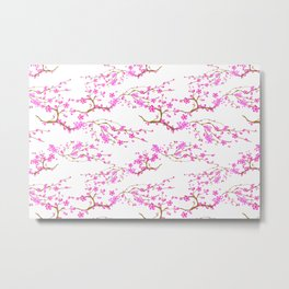 Japanese,sakura tree.Pink cherry blossom flower. Metal Print