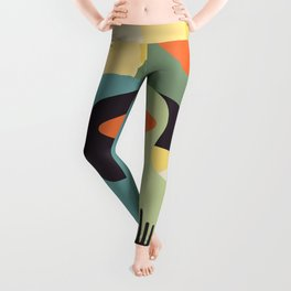 Open your mind #art print#abstract Leggings