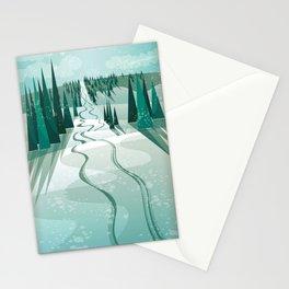 Winter Slope Stationery Cards
