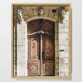 Doorway | Hotel de La Grange Nimes France Vintage Rustic Old World Desaturated Architecture Serving Tray