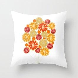 Citruses On Strings Throw Pillow