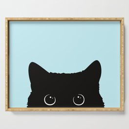 Black cat I Serving Tray