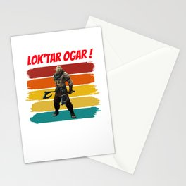 orc for people who like orcs and the horde  Stationery Cards