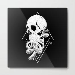 Skulltopus Metal Print