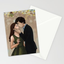 Underneath the Mistletoe Stationery Cards
