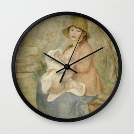 Maternity (Child at the breast) Wall Clock