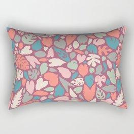 Houseplant Love Hand Drawn Tropical Plants Pattern Rectangular Pillow