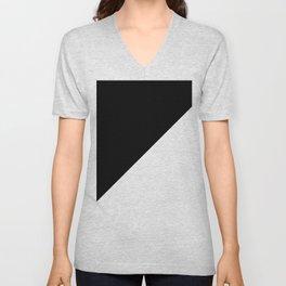 BLACK/WHITE Unisex V-Neck