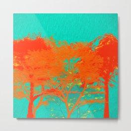 Colorful Trees Metal Print