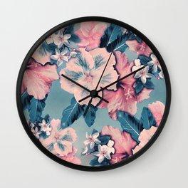 Vintage Nui Loa Hibiscus Wall Clock