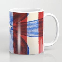 America Red White Blue Cross Coffee Mug
