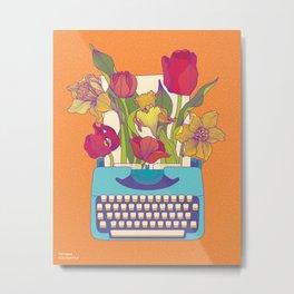Flowering words Metal Print