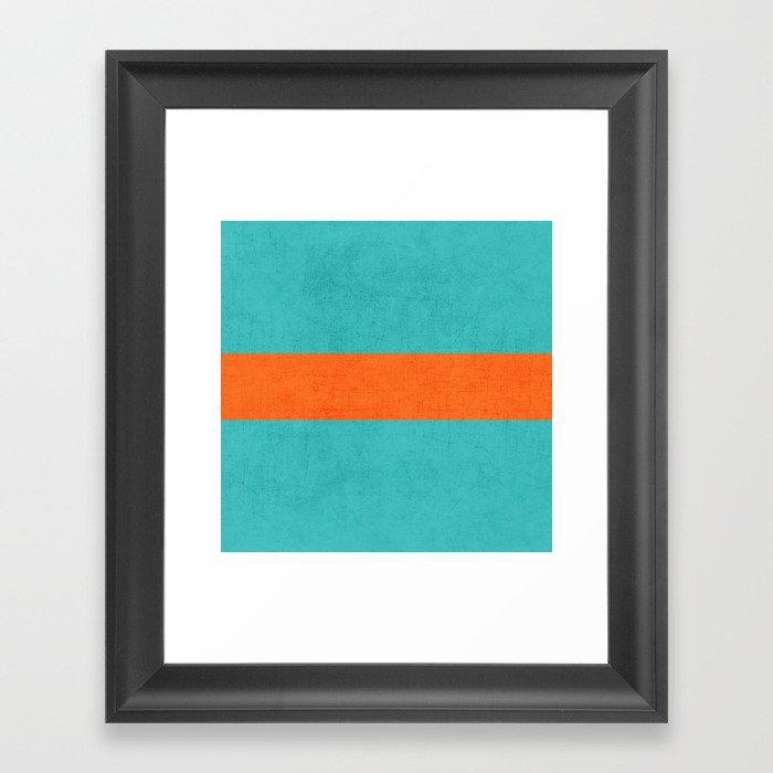 aqua and orange classic Gerahmter Kunstdruck