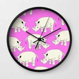 Vintage Rhino Pattern Wall Clock