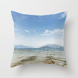 Garda lake Throw Pillow