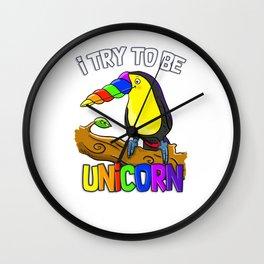 toucan unicorn Wall Clock