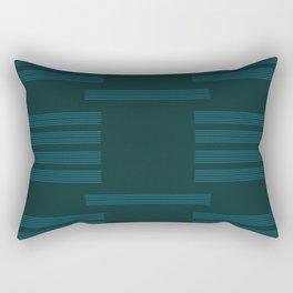 Turquoise and Jade Rectangular Pillow