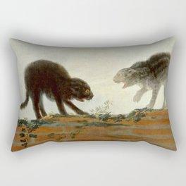 "Francisco Goya ""Cats fighting"" Rectangular Pillow"