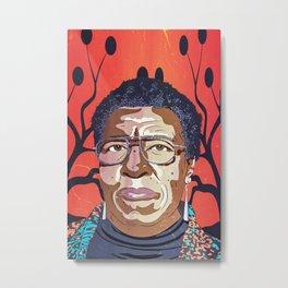 Octavia Butler Portrait Metal Print