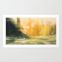 Nina in the Valley of Giants Art Print
