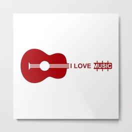 I love music #society6 #decor #buyart #artprint Metal Print