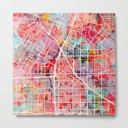 Norwalk map California painting 2 Metal Print