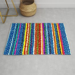 African American Masterpiece 'Light Blue Nursery No. 2'' by Alma Thomas Art Print Rug
