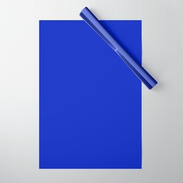 Solid Deep Cobalt Blue Color Wrapping Paper