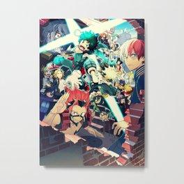 My Hero Academia   Izuku Midoriya   Deku Metal Print