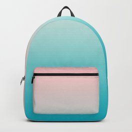 Pastel Ombre Millennial Pink Blue Teal Gradient Pattern Backpack