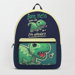 Hungry Raptor // Angry Velociraptor, Kawaii Dinosaur, Paleontology Backpack