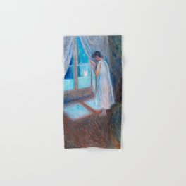 The Girl by the Window (1893) by Edvard Munch. Hand & Bath Towel