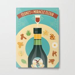 Fernet Branca the Miracle Elixir Metal Print