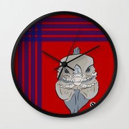 Rhino Iguana Plaid Wall Clock