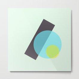 yellow n blue circles 002 Metal Print