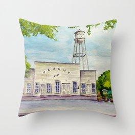 Greune Hall - Texas's Oldest Dance Hall Throw Pillow